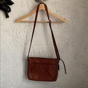 Rich Brown Leather Fossil Crossbody